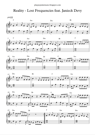 Play Popular Music Lost Frequencies Piano Sheet Music Free Flute Sheet Music