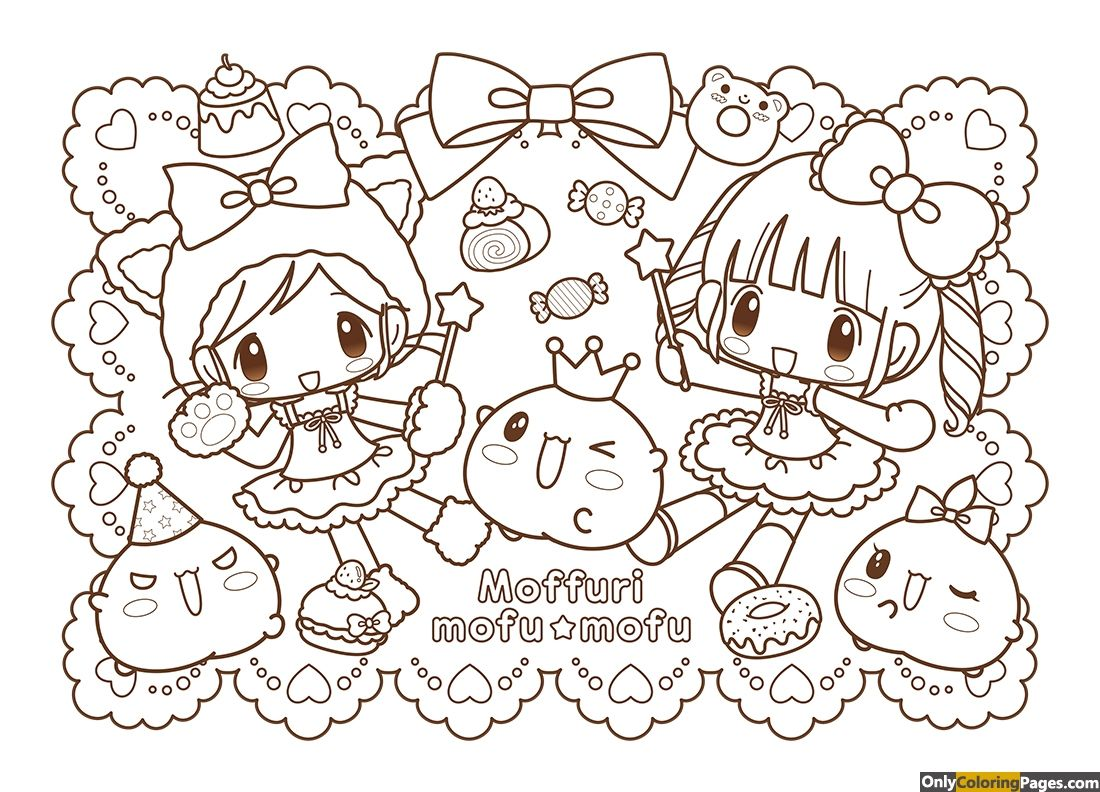 Kawaii Japanese Coloring Pages Chibi Coloring Pages Coloring Books Cute Coloring Pages