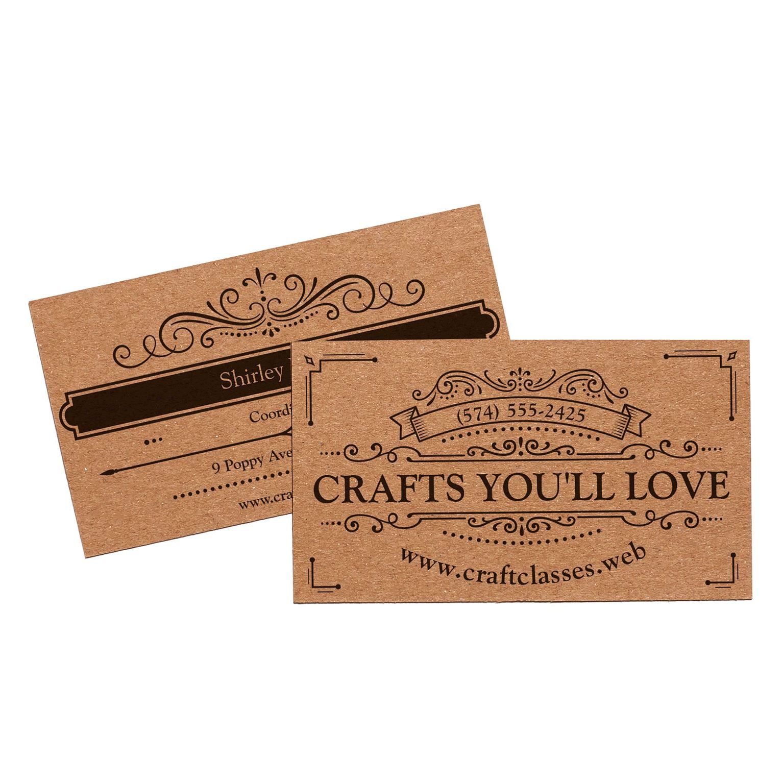 Kraft Paper Business Cards Eco Friendly Cards Vistaprint Kraft Business Cards Recycled Paper Business Cards Vistaprint Business Cards