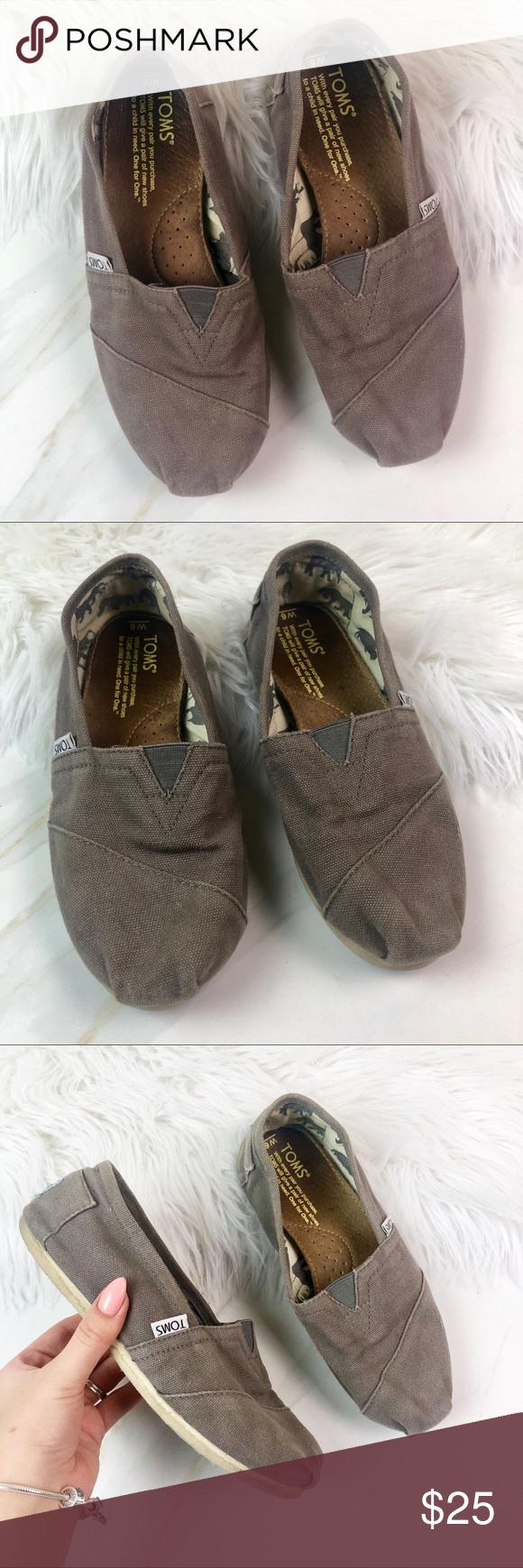 4 For 25 Gray Basic Toms Flat Shoes Women Womens Toms Women Shoes