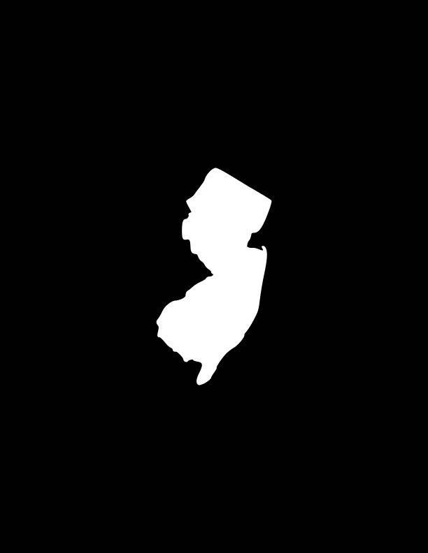 New jersey decal nj state outline decalnew jerseyannj state decals