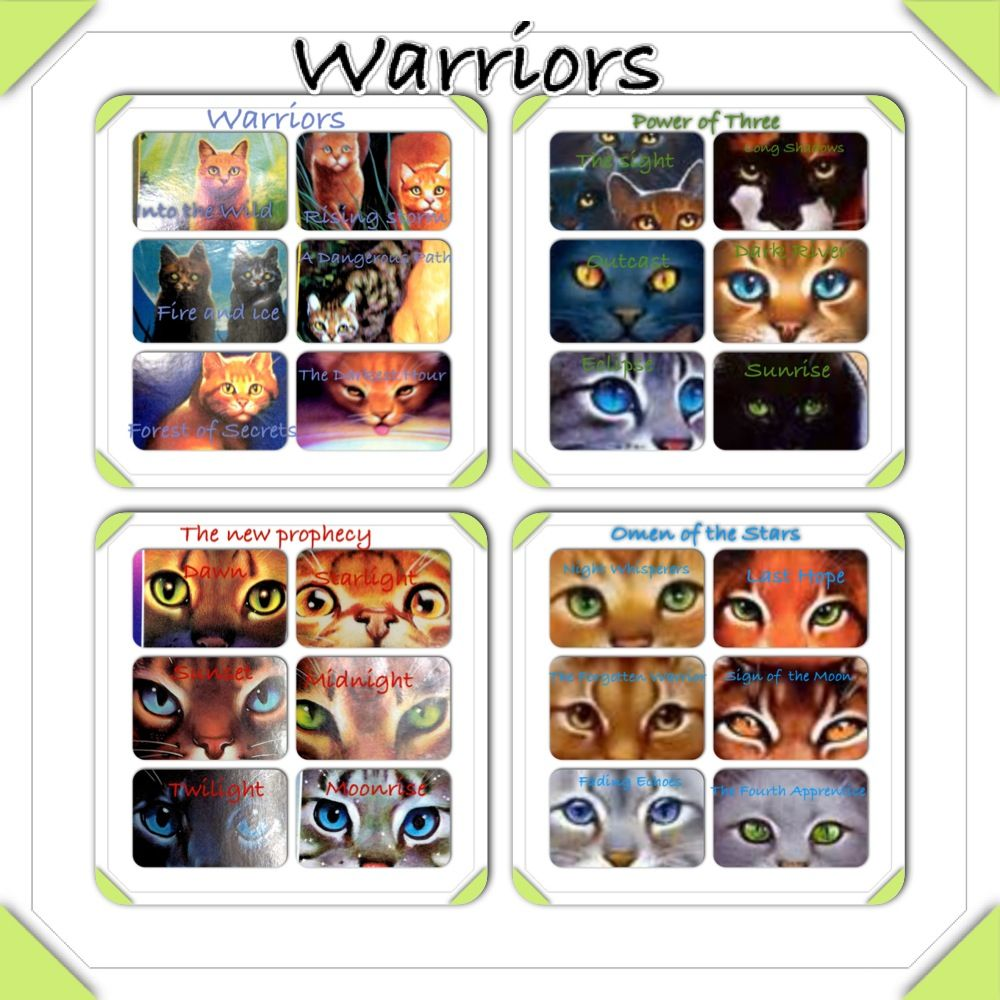 Warriors Erin Hunter Books In Order