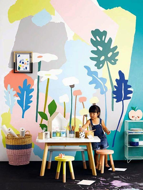 lovely market news papier peint color chambre denfant