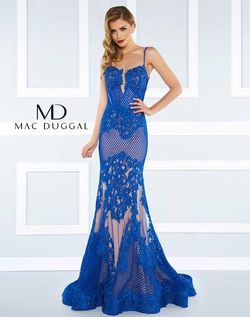 0d6f891e44 Illusion mermaid gown with sweetheart neckline