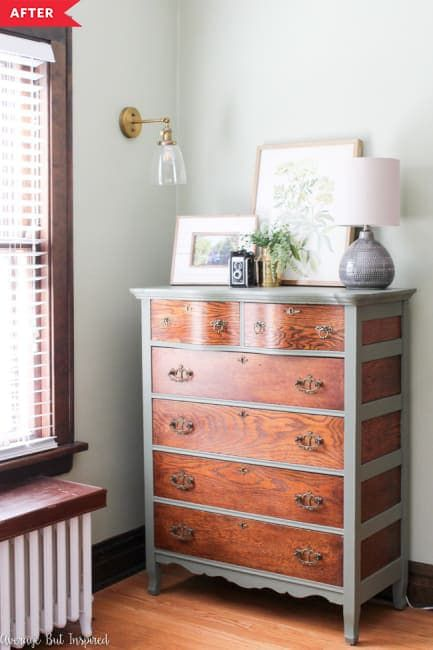 Before and After Two Tone Furniture Redos - Furniture Redos Wood and Paint | Apartment Therapy