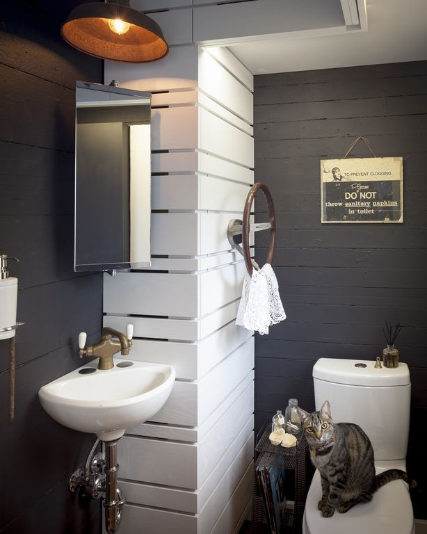 Rustic Powder Room With Wall Mounted Sink Powder Room White Corner Minette 11 Wall Mounted Porcel Wall Mounted Toilet Top Bathroom Design Rustic Powder Room