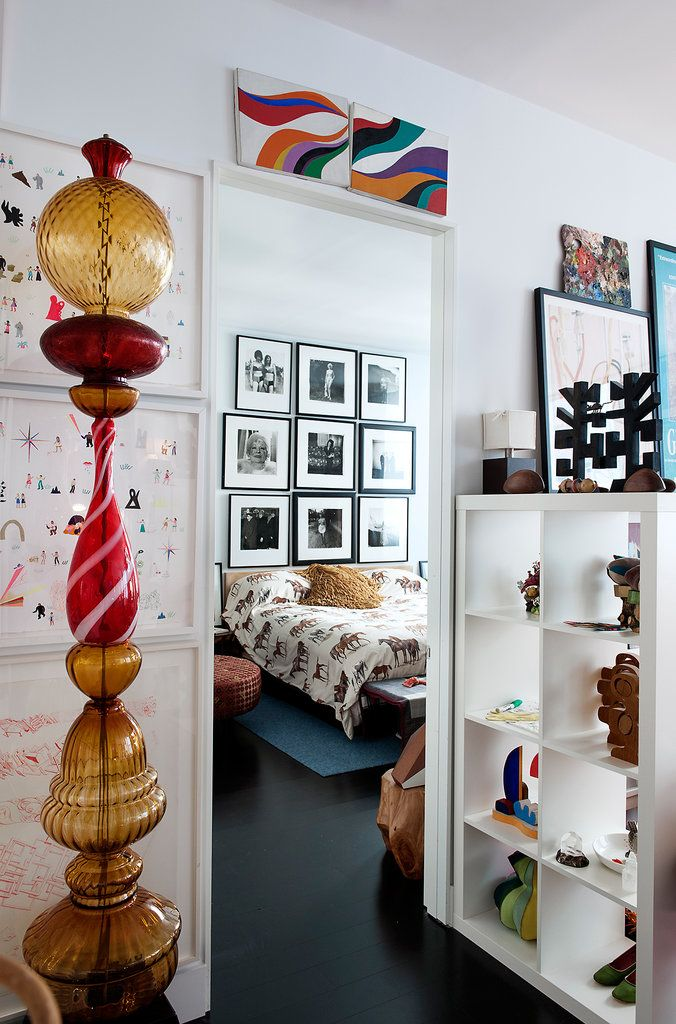 At Home with Designer Todd Oldham Picture frame inspiration