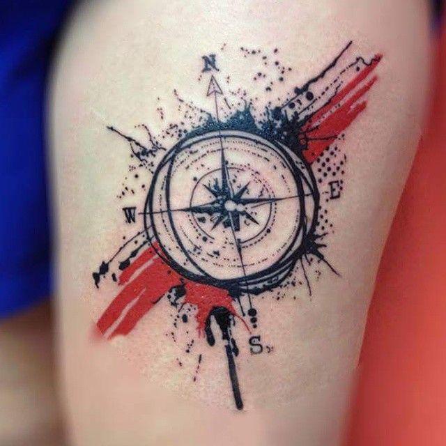Resultado De Imagen Para Trash Polka Compass Compass Tattoo