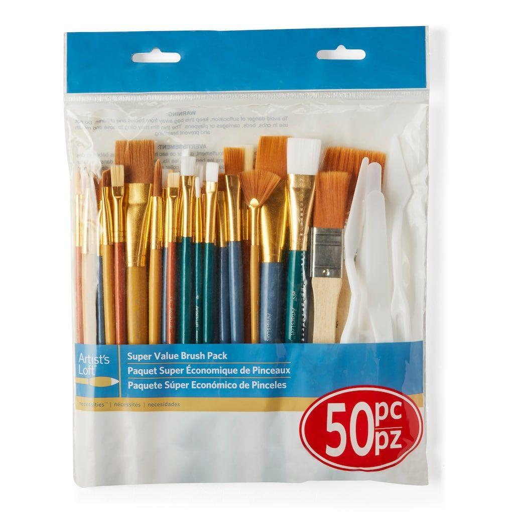 Necessities Super Value 50 Piece Brush Set By Artist S Loft In