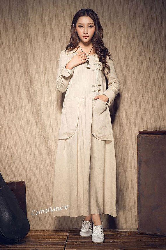 Modele de robe longue d'hiver