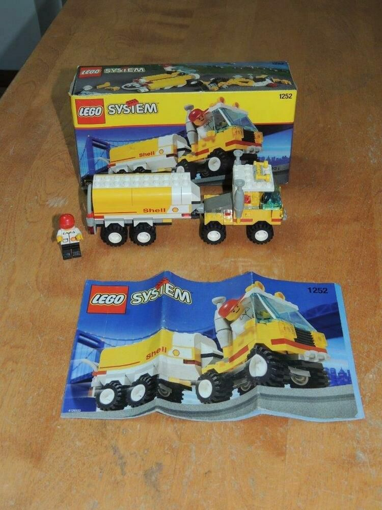Lego System 1252 Shell Tanker 100 Complete Wbox And Instructions