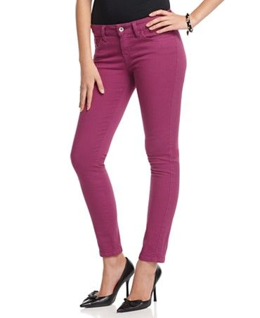 6ae0996c1599a guess colored skinnies   fashion candy   Pants, Purple pants, Jeans