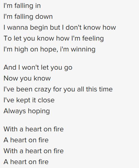 CITIPOINTE - HEART ON FIRE LYRICS - SONGLYRICS.com