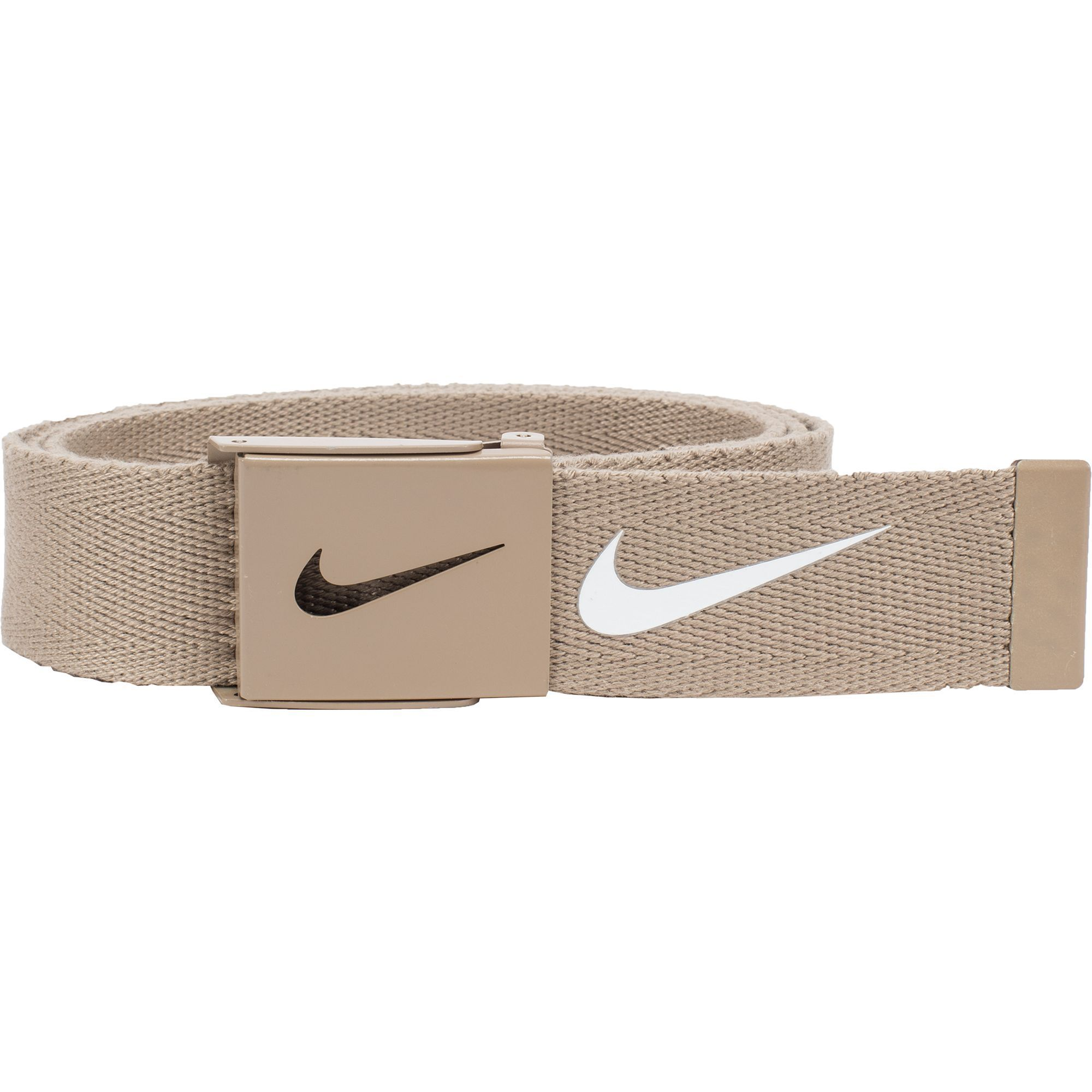 Men's Nike Golf Web Belt, Beig/Green (Beig/Khaki)
