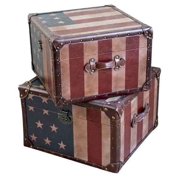 Attrayant International Caravan American Trunk ($228) ❤ Liked On Polyvore Featuring  Home, Home Decor