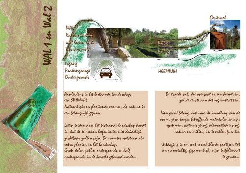 Beekhuizen - wallen en glooiingen - schetspagina voormalig zwembadterrein - vorm & inhoud