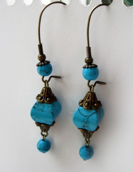 Серьги: голубая коллекция