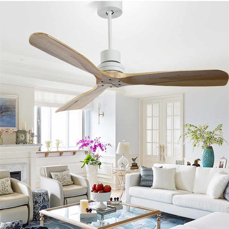 Nordic Style Vintage Ceiling Fan Wood Without Light Creative Design Bedroom Dining Room Ceiling Fans Free Shipping Aliexpress In 2020 Ceiling Fans Without Lights Dining Room Ceiling Fan Living Room Ceiling Fan