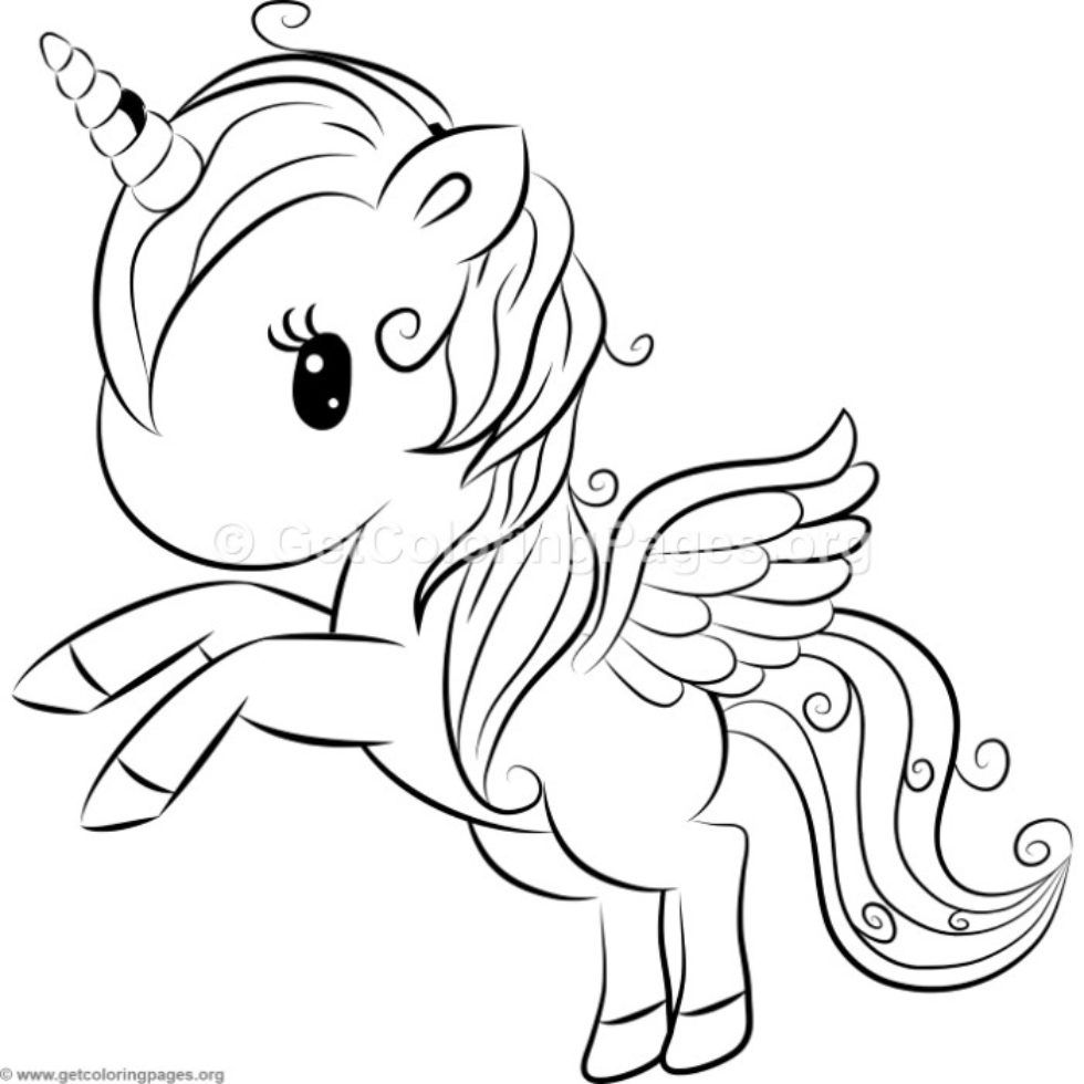Cute Unicorn 6 Coloring Pages Getcoloringpages Org Unicorn