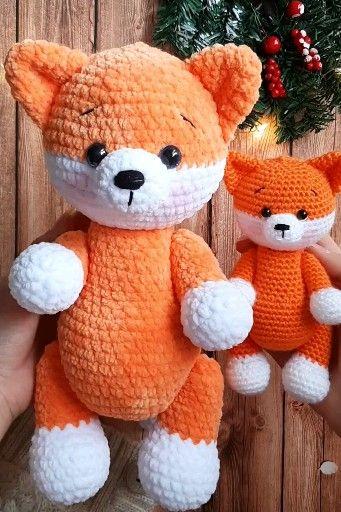 Photo of Crochet pattern amigurumi plush and little fox
