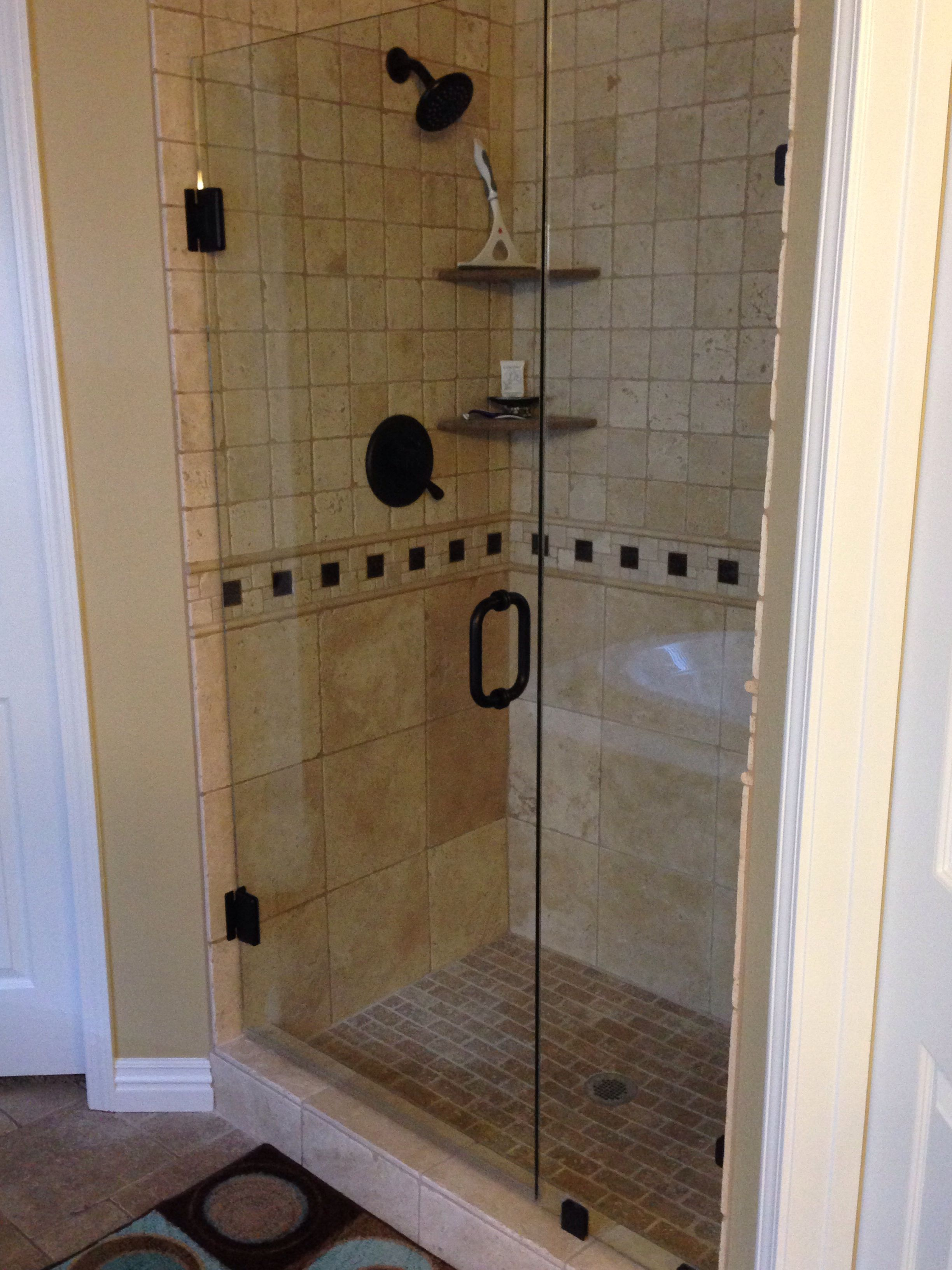 Removed Insert And Had New Shower Built Frameless