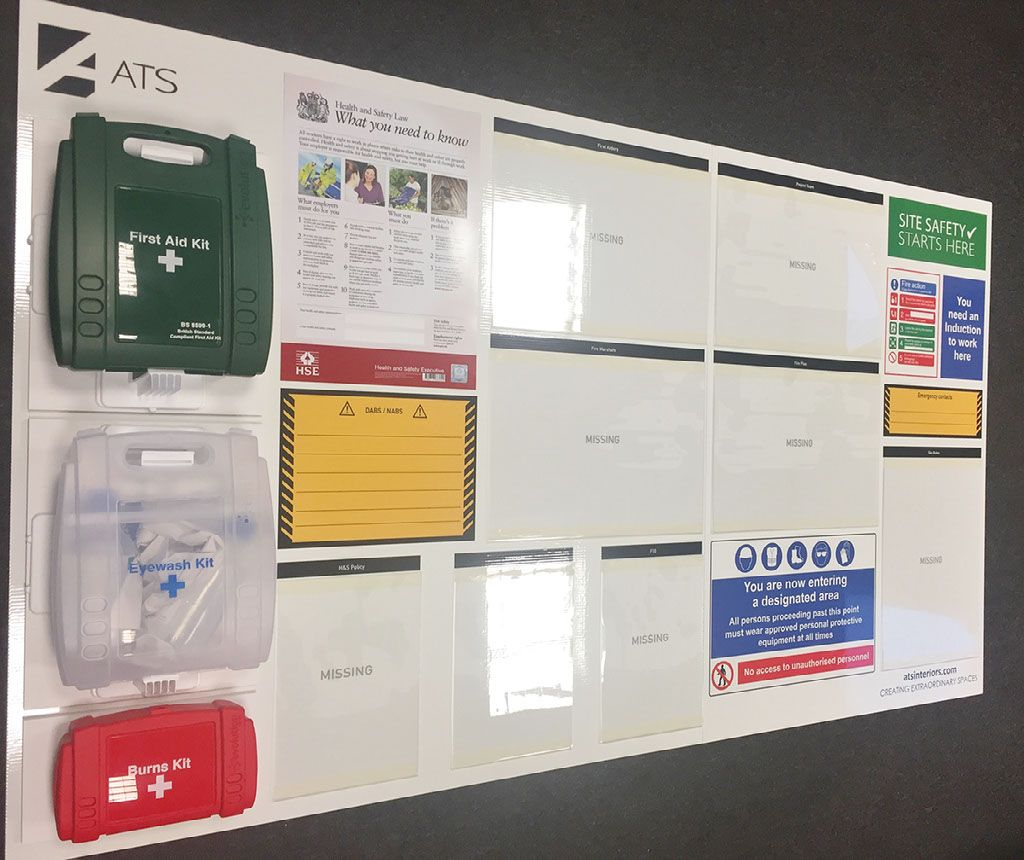 QHSE Site Safety Boards Occupational health and safety