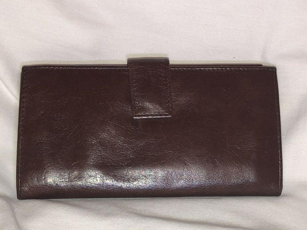 3e7ac0ccee21e5 HOBO INTERNATIONAL Leather Bifold KRISTA Wallet Clutch Woodlands | eBay
