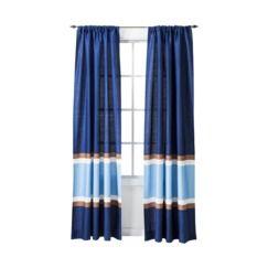 Circo Stripe Window Panel Blue 54x84 Blue Striped Curtains Blue Window Panels Striped Curtains