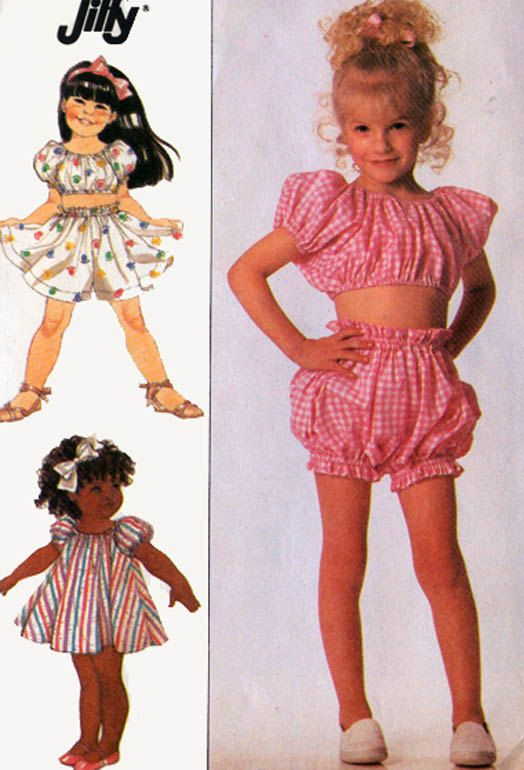 Vintage 80s Sewing Pattern Simplicity 9216 Toddlers by ... - photo#24