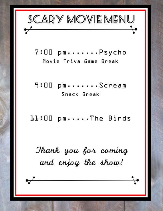 Movie Ticket Horror Movie Party Admission Invite Movie party - movie ticket template for word