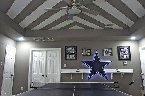 City View Dallas Design Corrals A Range Of Styles Dallas Cowboys Room Cowboy Room Contemporary Family Rooms