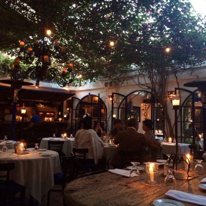 Romantic outdoor restaurants in southern California