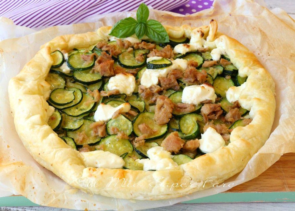 Ricetta Quiche Tonno.Torta Rustica Tonno E Zucchine Ricette Ricette Facili Idee Alimentari