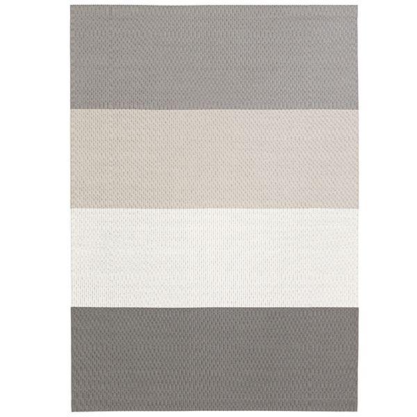 Fourways matto, pohjattu, vaaleanharmaa-valkoinen