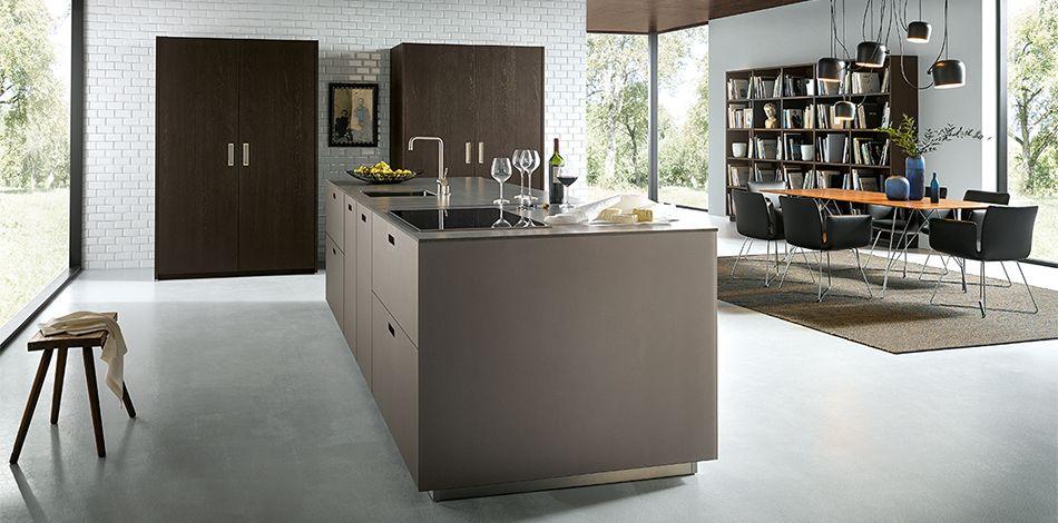 Küche next125 matt platin metallic