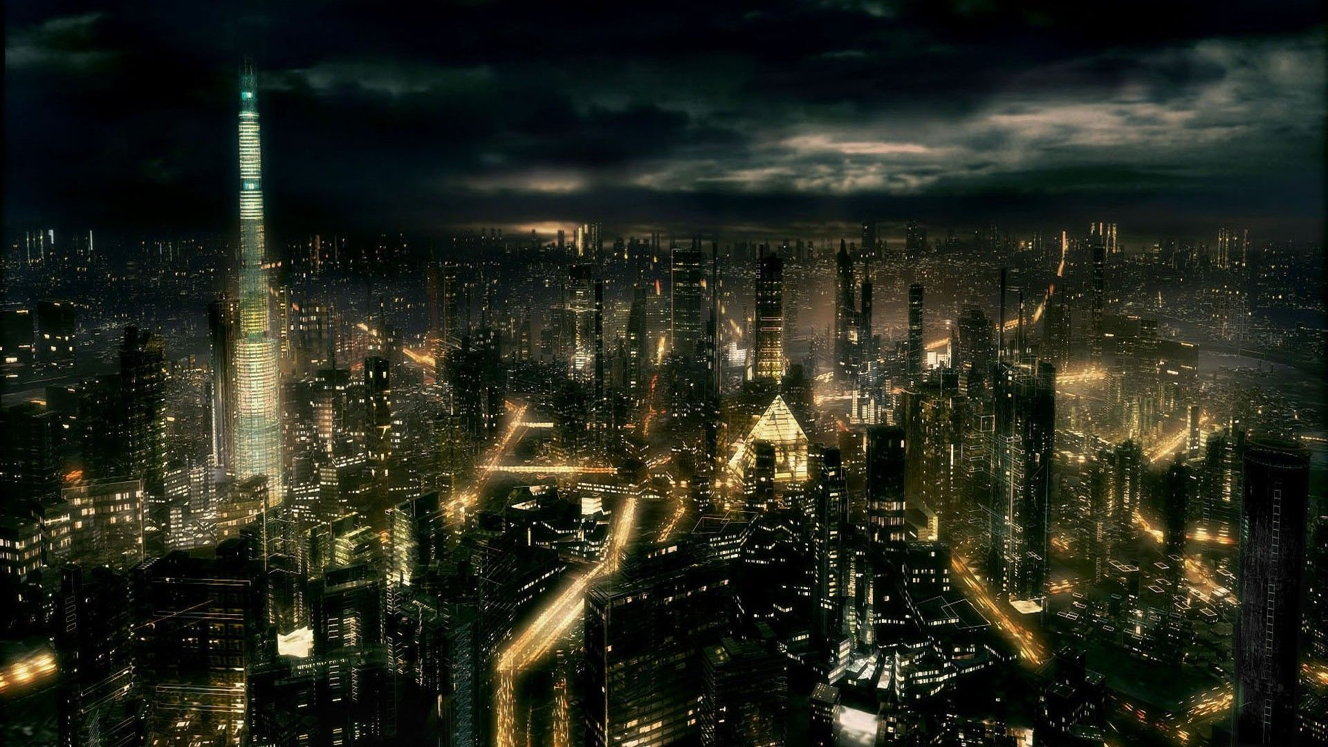 Dark City City Wallpaper Background Images