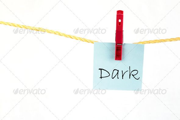 Note Paper With The Word Dark Adhere Advertisement Board Colored