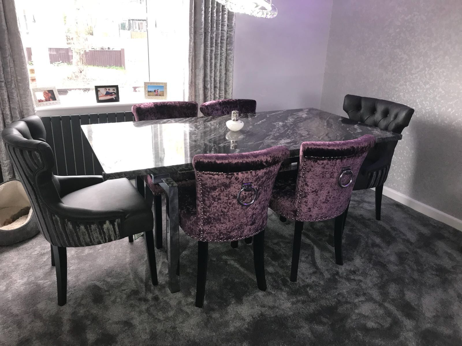 designer fashion a4bf5 b965a Our Black Adonis Dining chair, with fabric splits. * Please ...