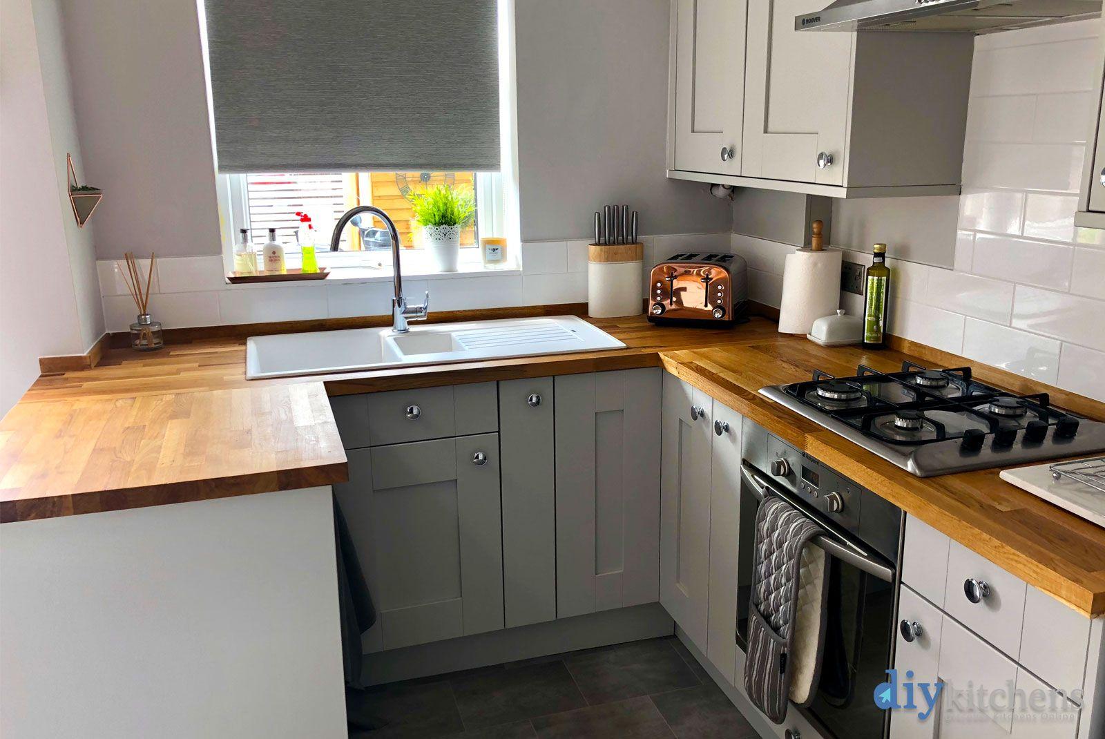 An Innova Malton Light Grey Shaker Kitchen. Cheap