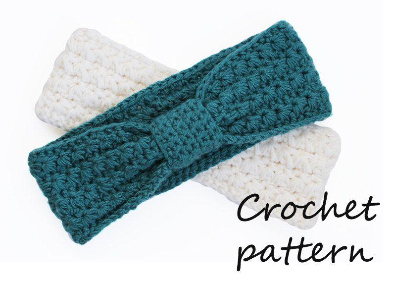 Crochet Headband Pattern Pdf Tutorial Earwarmer