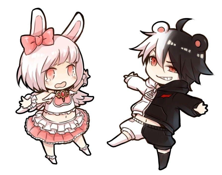 Monomi And Monokuma Dangan Ronpa Pinterest Anime
