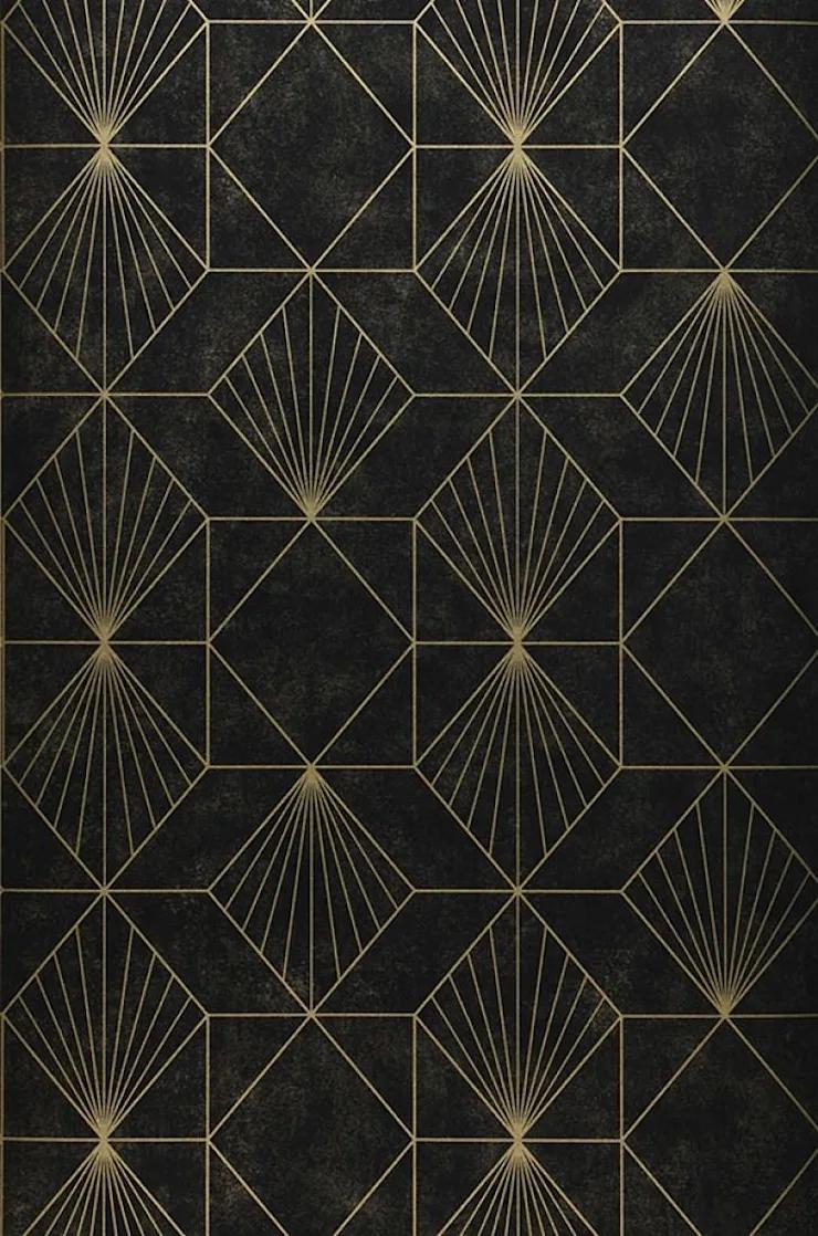 Carta Da Parati Nera carta da parati geometrica di carta da parati degli anni 70