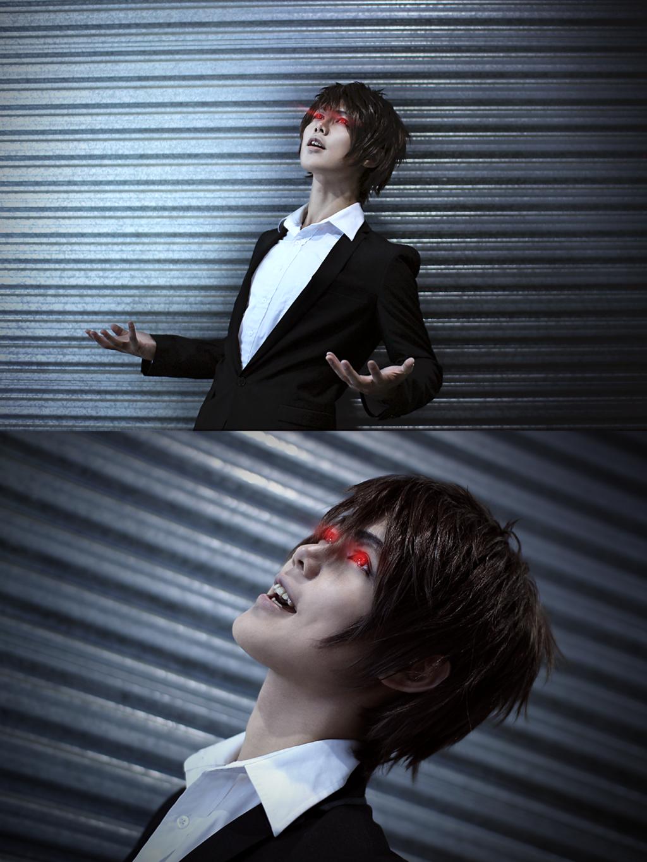 Hahaha deathnote kira light yagami cosplay laugh by dat ...