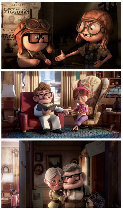 it's been nearly 3 years and i still cannot get over how amazing and beautiful and touching this movie is. uncontrollable weeping, every time. i ♥ pixar. This is the love story I want. Its gives quite an insight on why grumpy old people are the way they are now. They are just lonely and heartbroken.