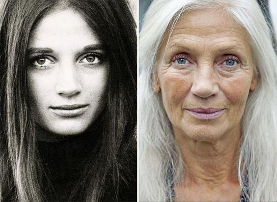 (Ingmari Lamy then and now) This, dearest young people, is the wonder and yes, the wounds, of age. The older lady is just as profound as the younger one. Both ages have specialness but as one who is 61, I prefer age. Decades of experience, joys and sorrows and still the twinkle in her deep set eyes. Survival and learning. Great photos! #aginggracefully