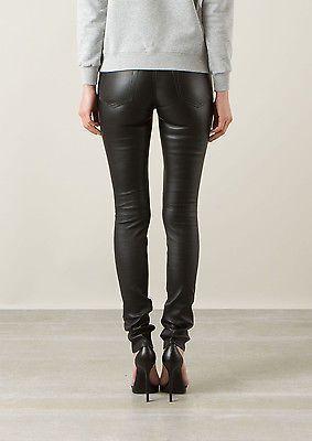 ae0f6b53cf91b New Black Leather Skinny Pants Jeans 5 Pockets Size 2-16 Lambskin Women 2-16