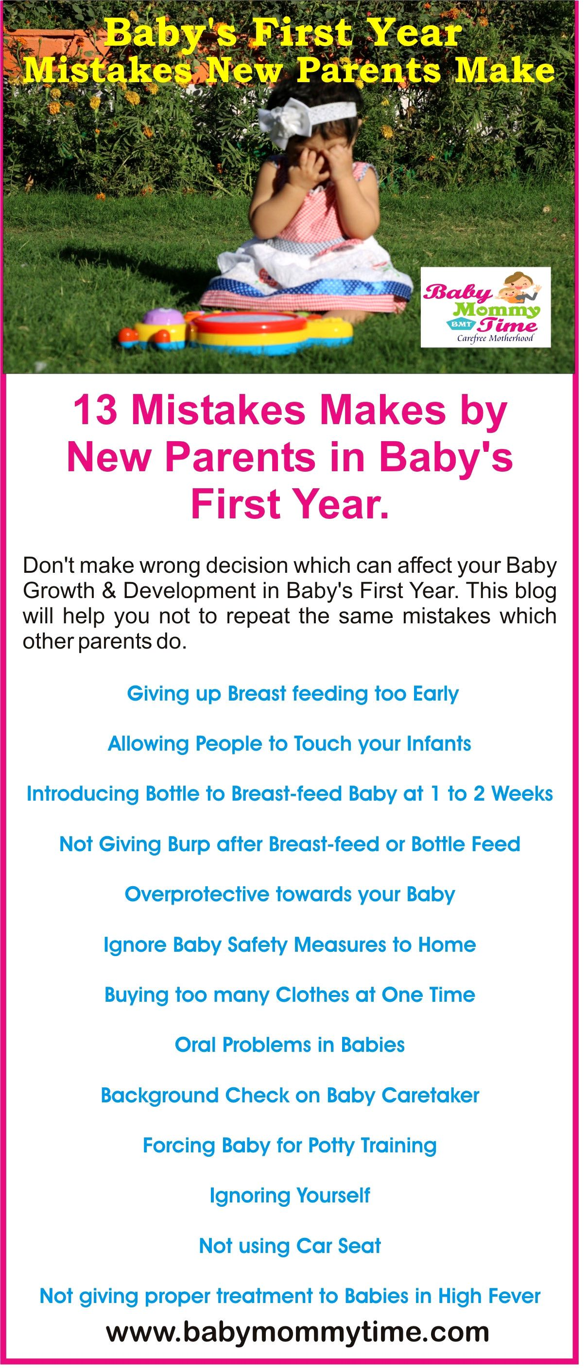 Baby's First Year Mistakes New Parents Make New