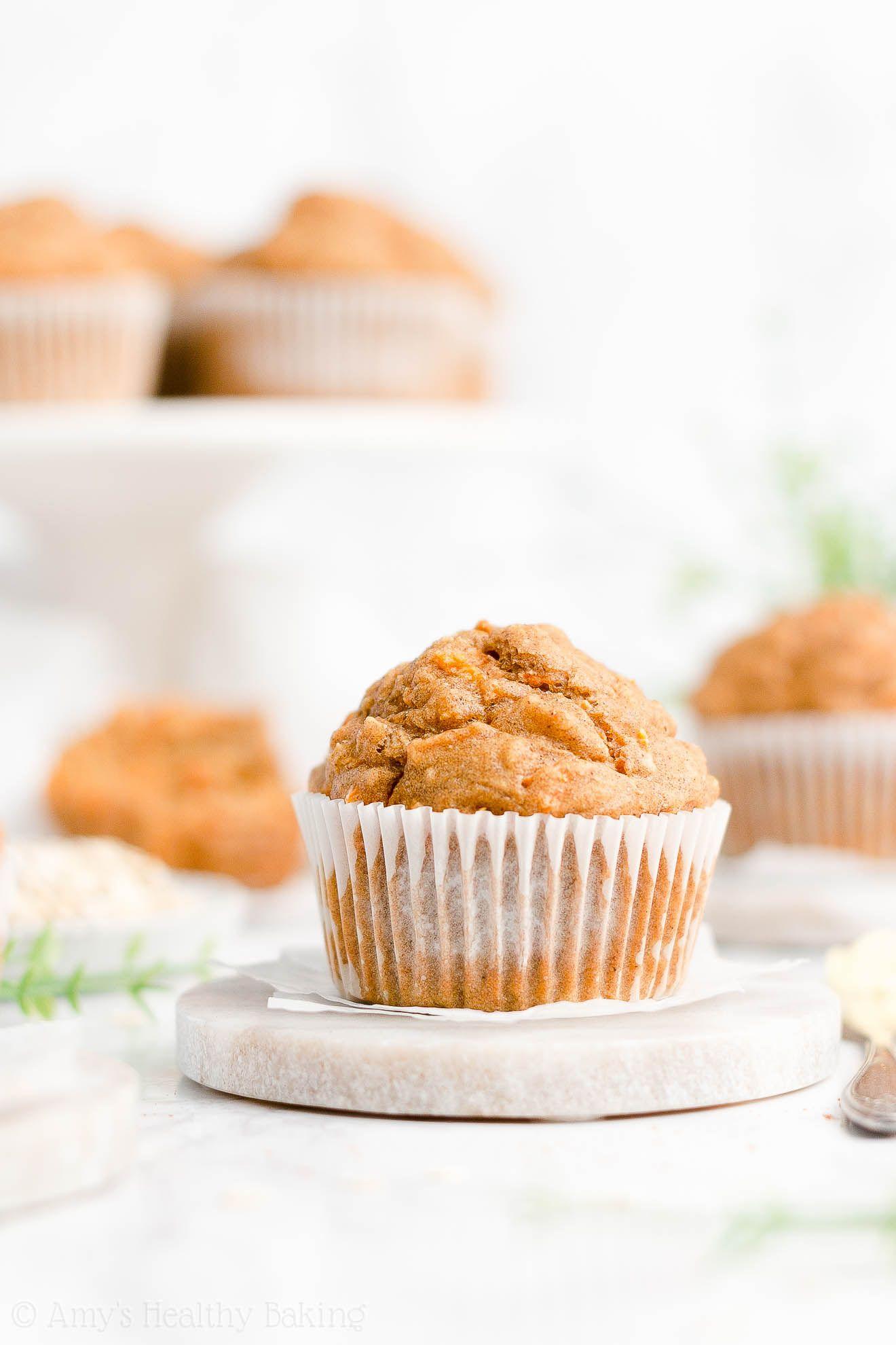 Healthy carrot cake oatmeal muffins so moist fluffy