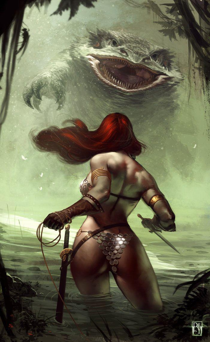 Red Sonja By Antonio De Luca Fantasy Barbarians