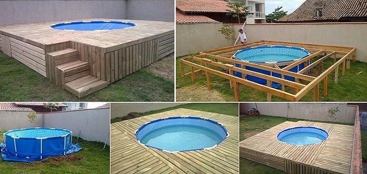 C mo construir una piscina econ mica el ejemplo de jos for Ideas para piscinas plasticas